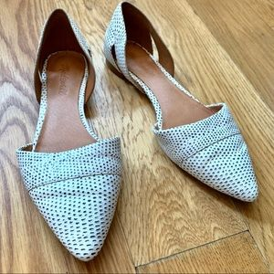 Madewell d'Orsay leather flats in spot dot size 7